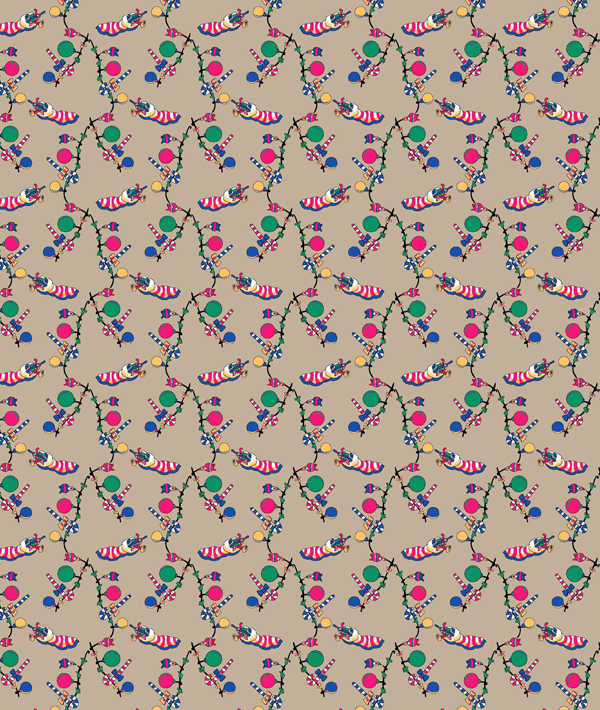 Stock Fabric Print in Polyester to Make 50 Dresses