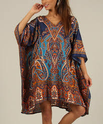 Plus Size 36 Blue Womens Summer Party Kaftan/Dress By Kushi - Pack of 12