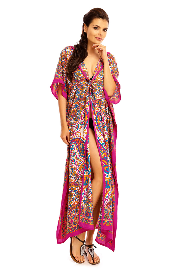Hooded Tribal Full Length Kaftan in Pink - 12 Pack