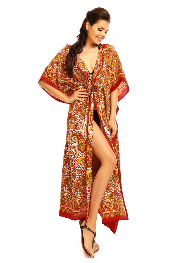 Hooded Tribal Full Length Kimono Kaftan