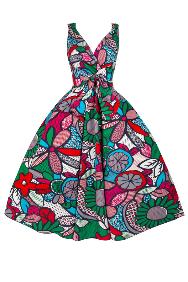 Womens Retro Plus Size R-202 5002 Green 1950's Party Summer Dress - Pack of 10