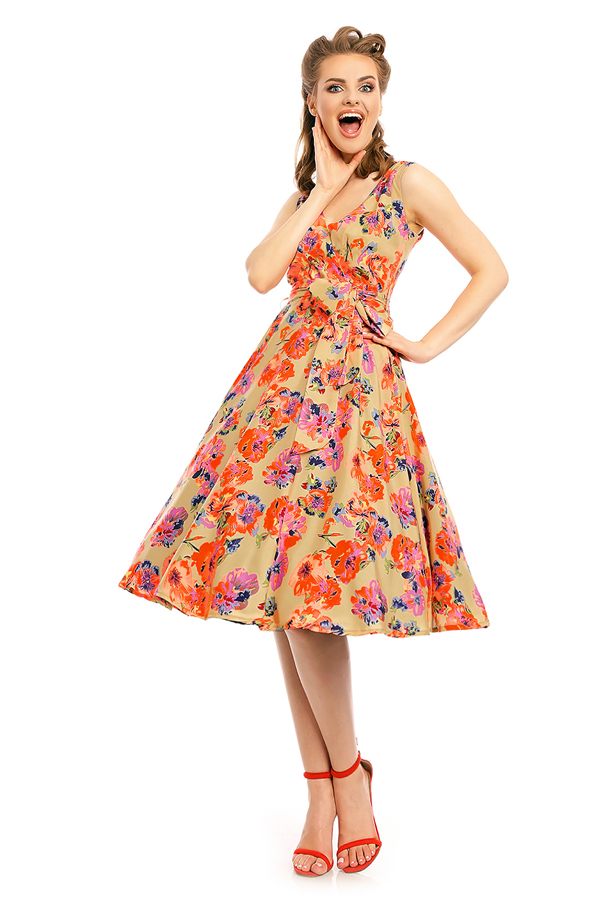Womens Retro Vintage 20935 1950's Party Summer Dress - Pack of 10
