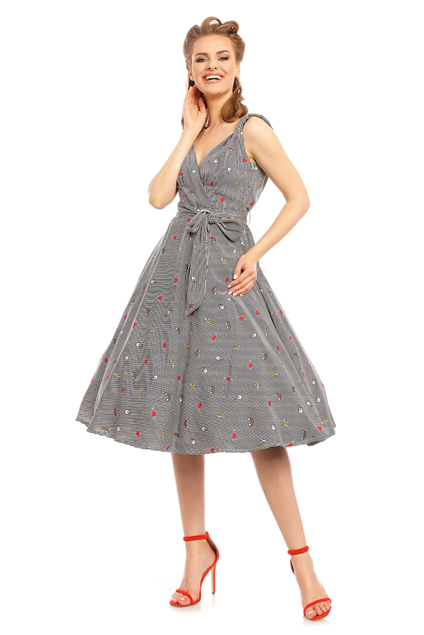 Womens Retro Vintage 20929 1950's Party Summer Dress - Pack of 10