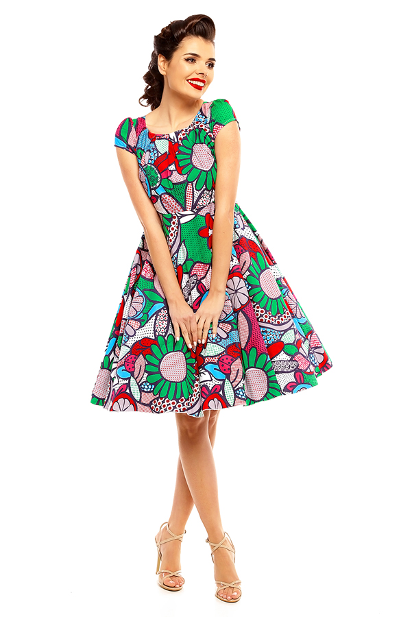 Ladies Pop Art 1950's Rockabilly Pin up Retro Vintage Dress - Pack of 10