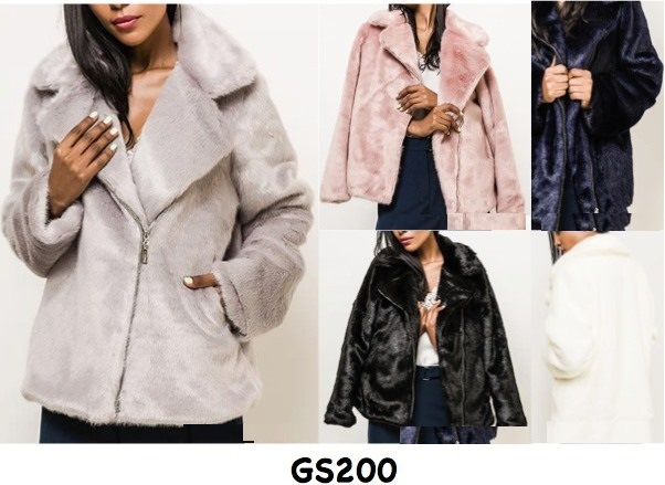 Luxury Faux Fur Over Coat - 5 Pack