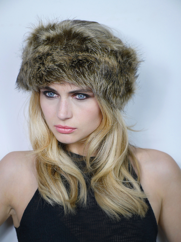 Faux Fur Headband Brown