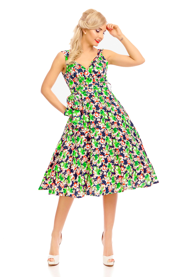 Womens Retro Vintage 20918 1950's Party Summer Dress - Pack of 10