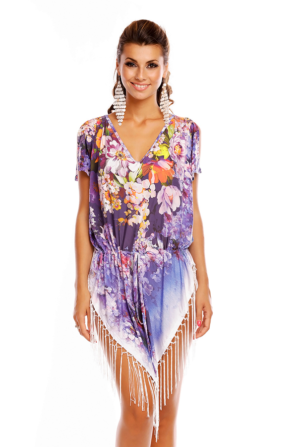 Ladies Summer STK-022 Tunic Kaftan Beach Cover Up Pacck of 8