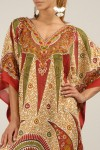 Plus Size 21806 Red Womens Summer Party Maxi Kaftan/Dress By Kushi - Pack of 12