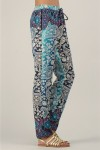 Womens Kushi 19088-blue Trousers Summer Holiday Pack of 10