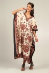 Plus Size B-103 Womens Summer Party Maxi Cream Black Kaftan/Dress By Kushi - Pack of 12