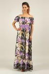 Womens Kushi/Anmol Maxi Dress CCG406 Purple Summer Plus Size Pack of 10