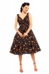 Retro Vintage 1950's Pin Up Swing Dress Autumn Night Print - Pack of 10
