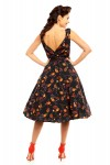 Looking Glam Ladies Autumn Fall Retro Vintage 50's Swing Dress in Black