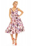 Womens Retro Vintage Pink Butterfly 1950's Party Summer Dress - Pack of 10