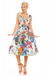 Womens Retro Vintage Mint Leaf 1950's Party Summer Dress - Pack of 10