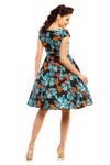 Ladies Plus Size Leaf Print 1950's Rockabilly Pin up Retro Vintage Dress - Pack of 10