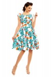 Ladies Leaf Print 1950's Rockabilly Pin up Retro Vintage Dress - Pack of 10