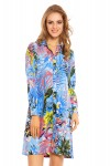Ladies Long Sleeve Shirt Blouse in Birds of Paradise Print Pack Of 10