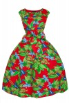 Womens Retro 201 5011 Red Mid-Tie 1950's Party Summer Prom Dress - Pack of 10