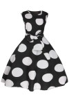 Womens Floral Retro 201 Black Mid-Tie 1950's Party Summer Prom Dress - Pack of 10