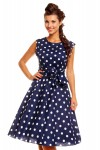 Women's Retro Vintage 1950's 40's Audrey Hepburn Swing Dress In Navy - Pack Of 10