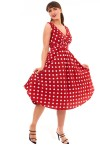 Retro Vintage Red Polka Dot 1950's Pin Up Dress Pack of 10