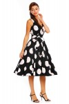 Womens Retro R-202 5050 Black 1950's Party Summer Dress - Pack of 10