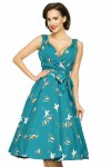 Retro Vintage 1950's Pin Up Swing Dress in Bird Print - Pack of 10