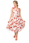 ladies Retro Vintage Inspired 1940's Collared Floral Midi Dress -  Pack of 10
