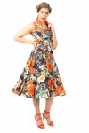 Vintage Inspired 1940's Floral Midi Dress -  Pack of 10