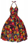 Ladies Pop Art Halter Neck Retro Vintage Dress - Pack of 10