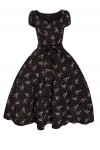 Retro Vintage Pin Up Swing Dress in Bambi Print Black - Pack of 10