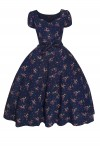 Retro Vintage Pin Up Swing Dress in Bambi Print Navy - Pack of 10