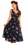 Retro Vintage 1950s Pin Up Swing Dress in Bird Print - Pack of 10