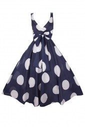 Womens Retro R-202 5050 Navy 1950's Party Summer Dress - Pack Of 10