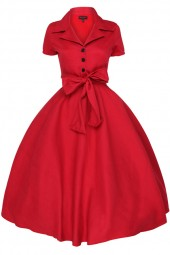 Womens Retro 232 Solid Maroon 1950's Party Summer Dress - Pack Of 10