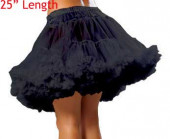 "Ladies Black 25"" Underskirt Tu Tu Petticoat - Pack Of 10"