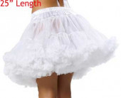 "Ladies White 25"" Underskirt Tu Tu Petticoat - Pack Of 10"