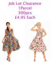 Job Lot Clearance Of 300 50s Style Retro Vintage Dresses 2017/18 Collection