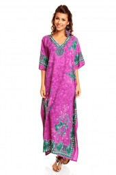 "Plus Size 52"" Long 19701 Purple  Women's Evening Maxi Kaftan Dress - Pack Of 12"