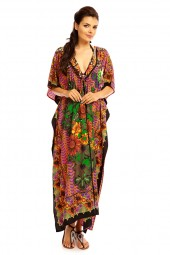 Hooded Tribal Full Length Kimono Kaftan - 12 Pack