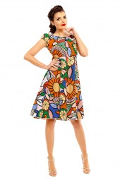 Ladies Plus Size Pop Art 1950's Rockabilly Pin Up Retro Vintage Dress - Pack Of 10
