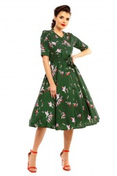 "Ladies 1940's Style Retro Vintage ""Maria"" Shirt Dress - Pack Of 10"