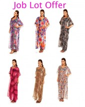 Job Lot - 75 Pcs Full Length Maxi Beach Pool Summer Kaftan