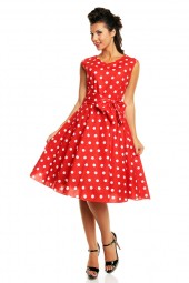 Retro Vintage Audrey Hepburn 1940's Inspired Retro Polka Dot Dress - Plus Size - Pack Of 10
