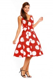 Womens Retro R-202 5050 Red 1950's Party Summer Dress - Pack Of 10