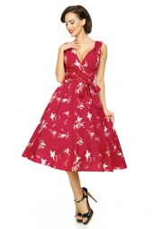 Retro Vintage Pin Up 50s Swing Bird Dress