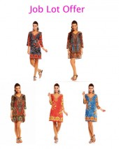 Job Lot - 100pcs Ladies Tribal Tunics